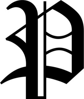 Letter P Old English Initial Decal Window Sticker