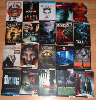 20 Horror DVD Movie Mini Poster Display Card Backers Lot True Blood