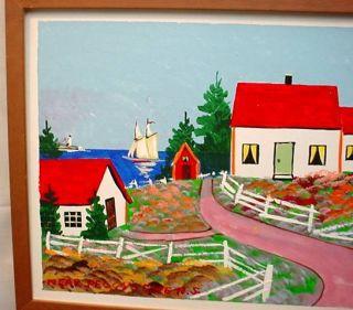 Scotia Folk Art Original Painting Frank Carson Near Peggys Cove