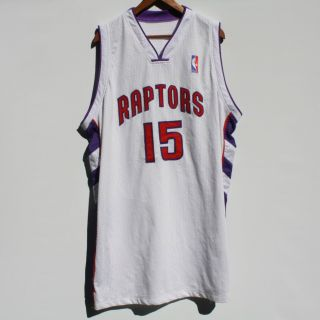 RARE Vince Carter Toronto Raptors NBA Jersey XXL Home White Sewn