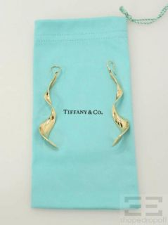 Tiffany & Co. Frank Gehry 18K Yellow Gold Orchid Drop Earrings