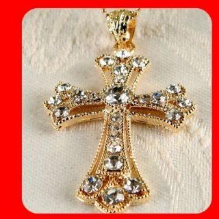 New Cross Charm Pendant Necklace Swarovski Crystal G