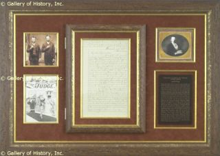 Frank James Autograph Letter Signed 03 12 1884