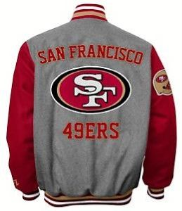 San Francisco 49ers NFL Wool Blend Varsity Jacket by G III s M L XL