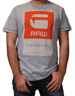 STAR RAW TEE SHIRT G RAW PARCELL GRAY SHORT SLEEVE NEW W TAGS