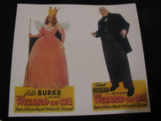 OF OZ 1939 BILLIE BURKE / FRANK MORGAN ~THEATER LOBBY STANDEE FIGURES