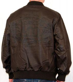 Mens Live Mechanics Prophecy Leather Jacket Rich Brown Coat XL