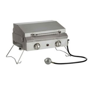 New Camping Portable Stainless Steel LP Gas Grill with Cover Sportsman