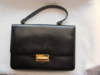 Gorgeous Vintage Navy Blue Leather Susan Gail Handbag