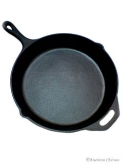 Extra Large 13 Black Cast Iron Fry Frying Skillet Sautee Pan