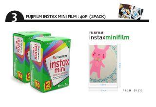 Fujifilm Instax Mini 25 Camera PENX10 FILM40 Classic Bag Album Deco