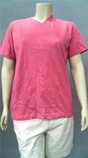 Lady Foot Locker Plus Womens Cotton Short Sleeve Basic T Shirt 2XL Sz