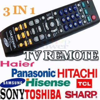 Universal JVC Hisence LG TCL Fujitsu TV VCD DVD Remote Control RC