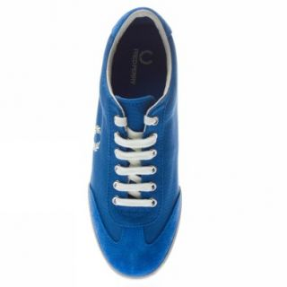 Fred Perry Newington Canvas Suede UK Size Light Blue Trainers Shoes