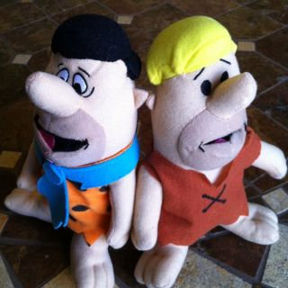 Fred and Barney Plush Dolls The Flintstones by Toy Factory