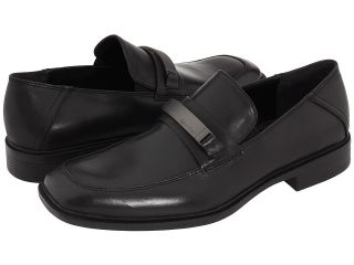 Calvin Klein Mens Dress Shoes F0505 Frolic Black Leather Slip on with