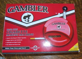New GAMBLER King 80mm Cigarette Maker Roller Rolling Making Tobacco