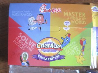 CRANIUM FAMILY EDITION GAME PACK CHICK FIL A TOY GAME 2010 ~USED BUT