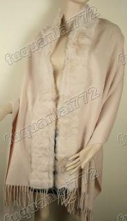 High Quality Real 100 Pashmina Rabbit Fur Scarf