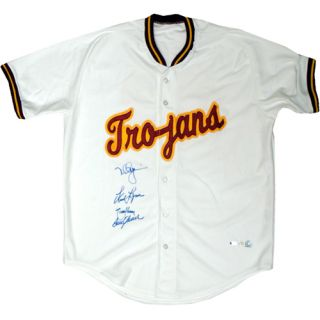 Randy Johnson Mark McGwire and Fred Lynn Autographed Jersey USC