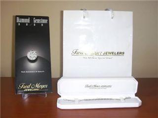 Fred Meyers 14k White Gold 2 Ct Diamond Tennis Bracelet