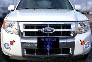 2008 Ford Escape Xenon Fog Lamps Lights 08 White Blue