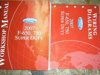 2007 FORD F 650 F 750 SUPER DUTY TRUCK FACTORY SERVICE MANUALS SHOP