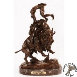 Buffalo Horse by Frederic Remington Bronze 32x22 Handcast Sculpture
