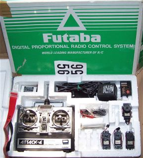 Futaba Attack 4 FP 4NBL 4 Channel RC Radio System w/ Extra Excellent
