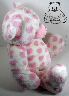 Hugabella Teddy Bear Ganz Plush Toy Stuffed Animal White Pink Heart