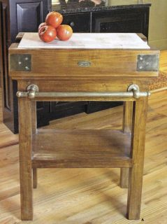 Napa Home Garden Kitchen Classic French de Kercoet Butcher Block
