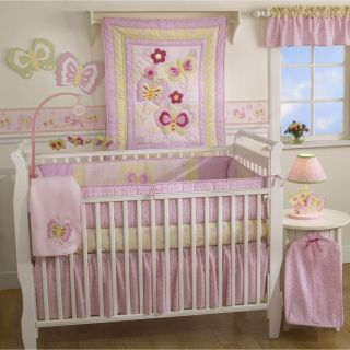 Butterfly Garden 4 Piece Baby Crib Bedding Set New in Bag
