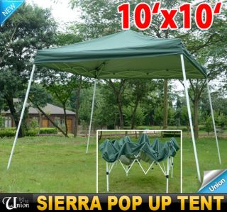 10x10 EZ Outdoor Sierra Gazebo Pop Up Canopy Party Tent Tailgating
