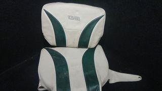 GIII GREEN BEIGE BASS PONTOON BOAT SEAT COVER CUSHIONS K I 32