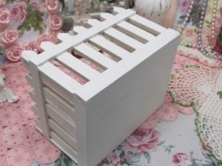 WOODEN PICKET FENCE CONTAINER~Shabby~Cottage~Chic~Garden~Country