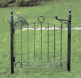 New Wrought Iron Country Cottage Garden Gate w Posts