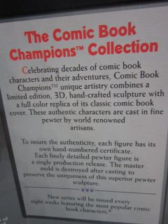 Batman Mr. Freeze Limited Edition Pewter Comic Book Champions action