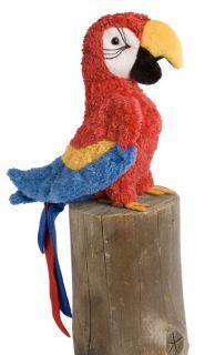 GABBY Douglas Cuddle plush 7 tall RED PARROT stuffed MACAW animal bird