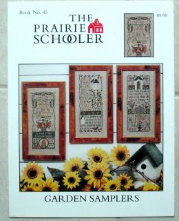 The Prairie Schooler 45 Garden Samplers Counted Cross Stitch Pattern