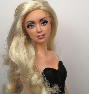 Lady Gaga OOAK Stardoll Barbie Celebrity Art Doll Repaint by Pamela