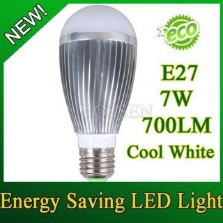 Eco friendly E27 7W 700LM Cool White Energy Saving 7 LED Globe Bulb
