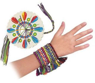 Bracelet Making Kit Friendship Thread Wheel Toysmith 10 Colored