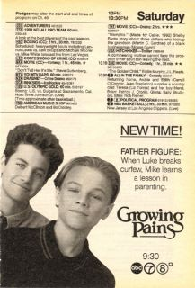 Growing Pains TV Guide Ad clipping Leonardo DiCaprio Kirk Cameron