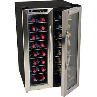 wine cooler dual zone stainless steel twr325ess fridge edgestar