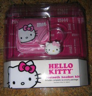 Spectra HELLO KITTY Bluetooth Headset Kit   KT4700 **BRAND NEW**