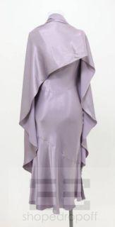 John Galliano Lilac Sleeveless Cowl Neck Dress Wrap Shawl Set Size US