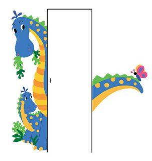 Dinosaur Friendly Dino Door Hugger Removable Peel Stick Vinyl Wall