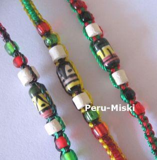 100 Rasta Friendship Bracelets with Ceramic Beads