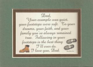 Dad Footsteps Fathers Verses Poems Love Plaques Sayings