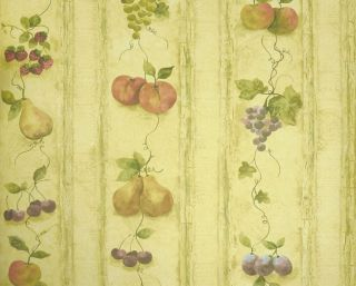 kitchen fruits grapes pear apple wallpaper ks24882